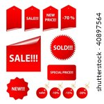 set of vector sale stickers and ... | Shutterstock .eps vector #40897564