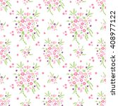 vector seamless floral pattern | Shutterstock .eps vector #408977122