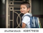 cute 3 year old mixed race... | Shutterstock . vector #408979858