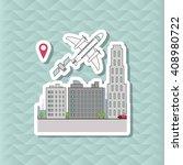 smart city vector design ... | Shutterstock .eps vector #408980722