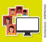 graphic design of social media  ...   Shutterstock .eps vector #408982462