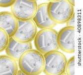 euro coins seamless | Shutterstock .eps vector #40898311