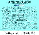ux website design  concept with ... | Shutterstock . vector #408983416