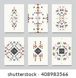 geometric colorful ethnic... | Shutterstock .eps vector #408983566