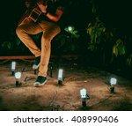 Man   Guitar   Night   Light