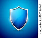 vector blue shield | Shutterstock .eps vector #408994762