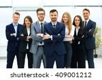 smiling and confident business... | Shutterstock . vector #409001212