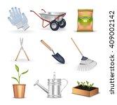 gardening realistic decorative...   Shutterstock .eps vector #409002142
