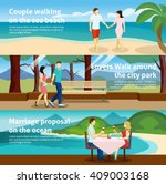 horizontal banner set with fall ... | Shutterstock .eps vector #409003168