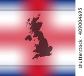 united kingdom map on blurred...   Shutterstock .eps vector #409004695
