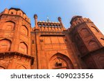 lahore gate of red fort in old... | Shutterstock . vector #409023556