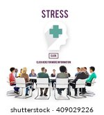 stress depression anxiety... | Shutterstock . vector #409029226
