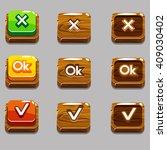 vector cartoon wood square...