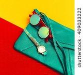 Stylish Accessories. Green...