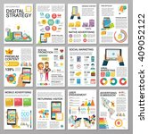 big infographics in flat style. ... | Shutterstock .eps vector #409052122