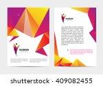 vector document  letter or logo ... | Shutterstock .eps vector #409082455