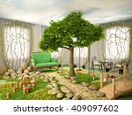 3d Illustration Of Concept Of...