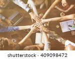 team unity friends meeting... | Shutterstock . vector #409098472
