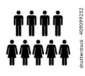 people icon   men   women vector | Shutterstock .eps vector #409099252