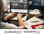 html network coding website... | Shutterstock . vector #409099516