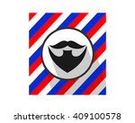 mustache logo beard facial hair ...   Shutterstock .eps vector #409100578
