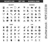 security car set 100 black...   Shutterstock . vector #409110238