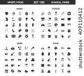 sport  fitness  school set 100...   Shutterstock . vector #409110412
