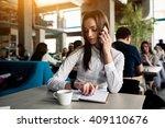 woman | Shutterstock . vector #409110676
