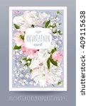 romantic flower invitation or... | Shutterstock .eps vector #409115638