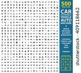 car  automobile  vehicle set... | Shutterstock . vector #409118662
