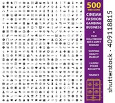 cinema  fashion  gambing set... | Shutterstock . vector #409118815