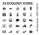 ecology icons set. ecology...