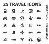 travel icons set.  | Shutterstock . vector #409121086