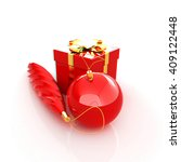 beautiful christmas gifts. 3d... | Shutterstock . vector #409122448