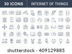 set vector line icons with open ... | Shutterstock .eps vector #409129885