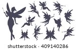 cute fairies silhouette...