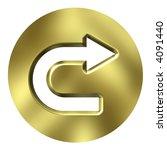 3d golden arrow button | Shutterstock . vector #4091440