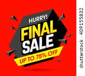 hurry  final sale banner ... | Shutterstock .eps vector #409155832