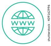 globe internet line icon. | Shutterstock .eps vector #409162996