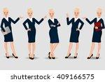 business woman | Shutterstock .eps vector #409166575