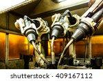 robots welding team in the... | Shutterstock . vector #409167112