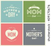 happy mothers day. retro... | Shutterstock .eps vector #409170676