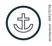 vector illustration of anchor...