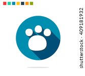 vector illustration of paw icon