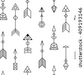 arrows black and white seamless ... | Shutterstock .eps vector #409193146
