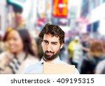 crazy man sad expression | Shutterstock . vector #409195315