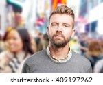 young man sad expression | Shutterstock . vector #409197262