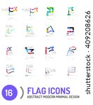flag icon logo vector... | Shutterstock .eps vector #409208626