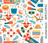 seamless pattern on summer... | Shutterstock .eps vector #409215952