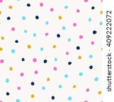 seamless confetti background... | Shutterstock .eps vector #409222072